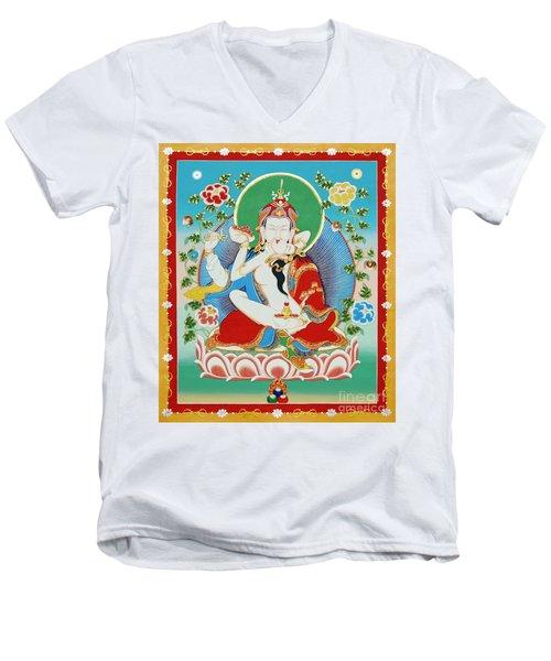Guru Rinpoche Yab Yum Men's V-Neck T-Shirt