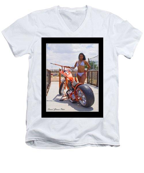 H-d_d1 Men's V-Neck T-Shirt