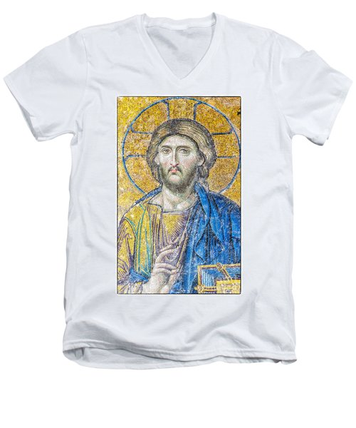 Hagia Sofia Jesus Mosaic Men's V-Neck T-Shirt
