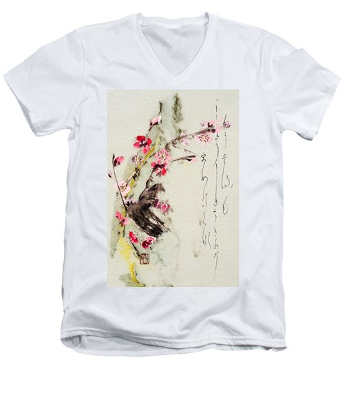 Haiga My Spring Too Is An Ecstasy Men's V-Neck T-Shirt