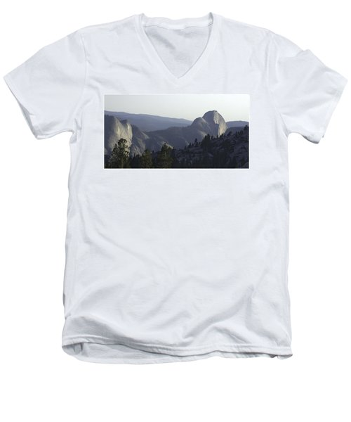 Half Dome From Olmsted Pt Men's V-Neck T-Shirt