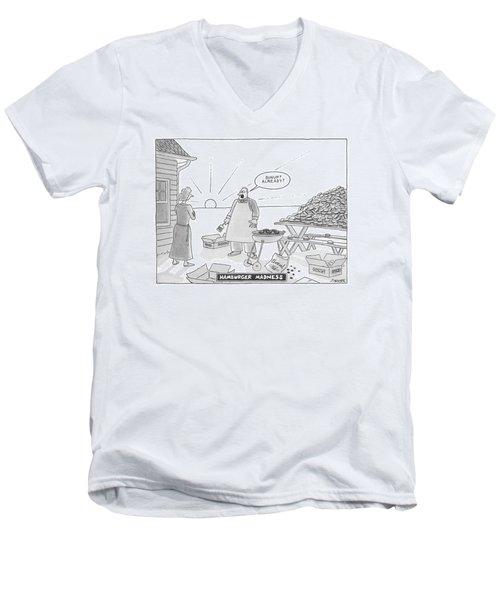 Hamburger Madness Men's V-Neck T-Shirt