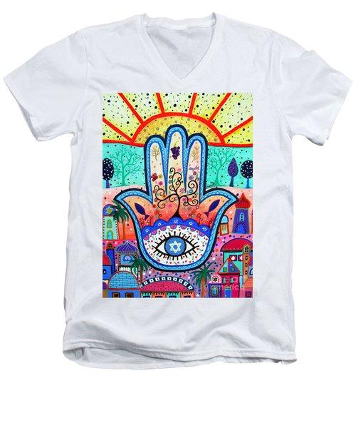 Hamesh Evil Eye Men's V-Neck T-Shirt