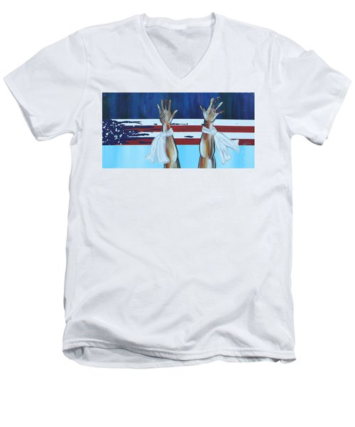 Hands Up Dont Shoot Men's V-Neck T-Shirt
