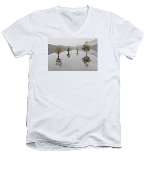Hanging Garden Men's V-Neck T-Shirt by Debra and Dave Vanderlaan
