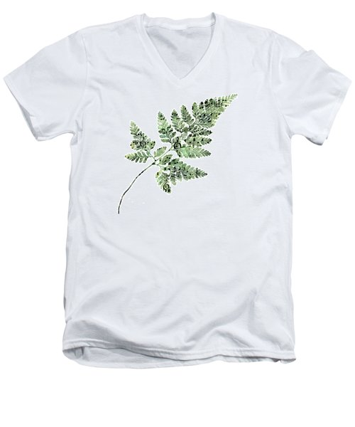 Happy Adventure Music Fern Men's V-Neck T-Shirt by Sandra Foster