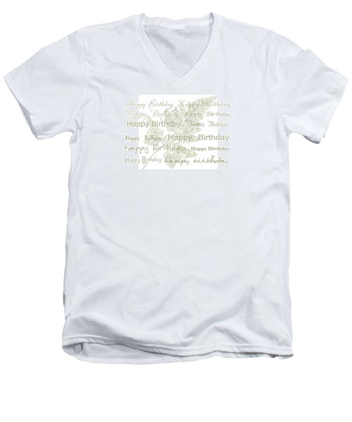 Men's V-Neck T-Shirt featuring the photograph Happy Birthday Card by Sandra Foster