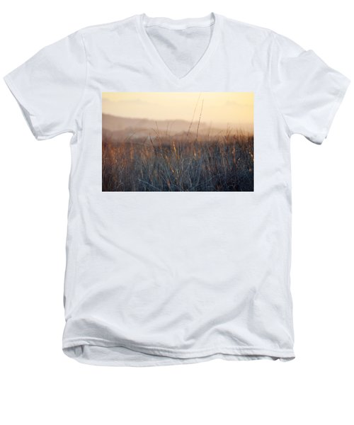 Men's V-Neck T-Shirt featuring the photograph Happy Camp Canyon Magic Hour by Kyle Hanson