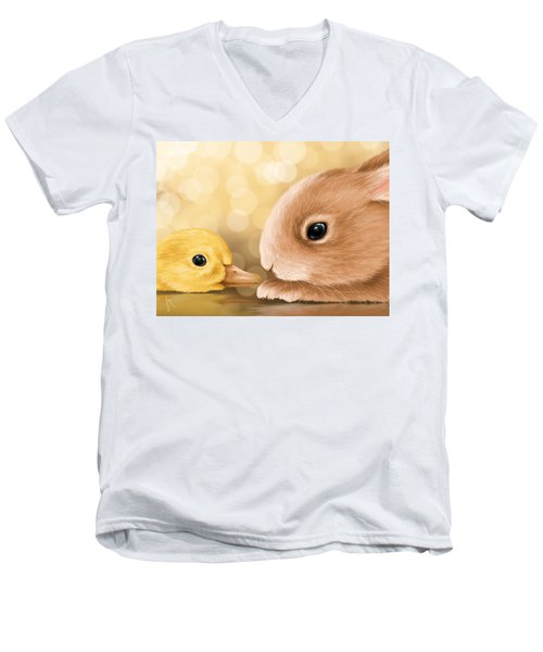 Happy Easter 2014 Men's V-Neck T-Shirt by Veronica Minozzi