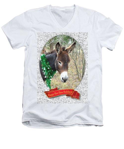 Happy Hee Haw Holidays Men's V-Neck T-Shirt