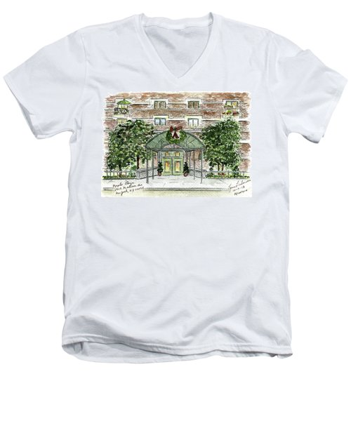 Happy Holidays At 1919 Madison Avenue In Harlem Men's V-Neck T-Shirt