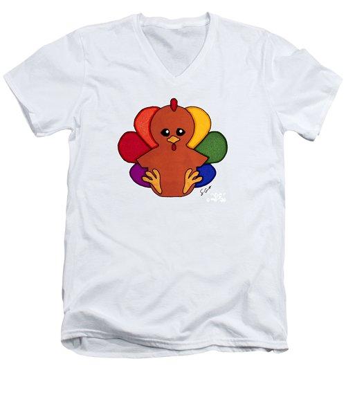 Happy Turkey Day Men's V-Neck T-Shirt