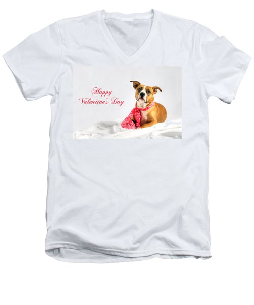 Fifty Shades Of Pink - Happy Valentine's Day Men's V-Neck T-Shirt