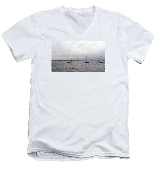 Harbor Men's V-Neck T-Shirt by David Jackson