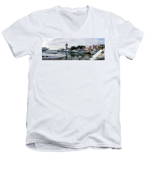 Harbourtown Harbor Men's V-Neck T-Shirt
