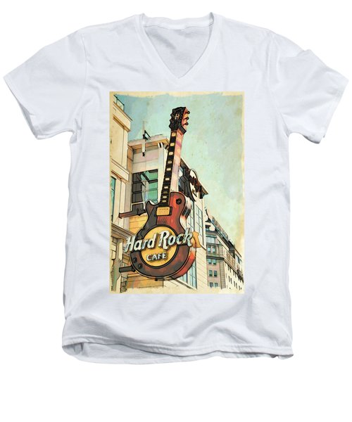 Hard Rock Guitar Men's V-Neck T-Shirt