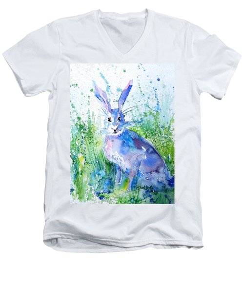 Hare Stare Men's V-Neck T-Shirt