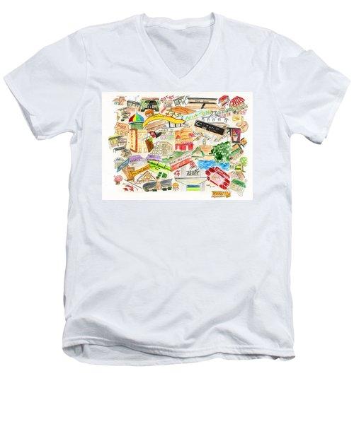 Harlem Collage Men's V-Neck T-Shirt by AFineLyne