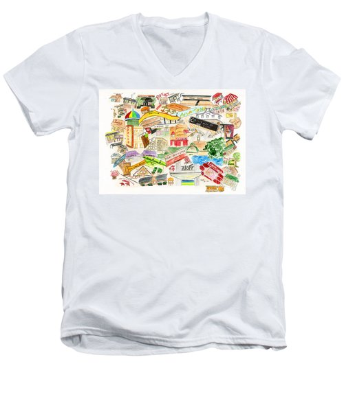 Harlem Collage Men's V-Neck T-Shirt