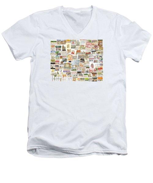 Harlem Collage Of Old And New Men's V-Neck T-Shirt by AFineLyne