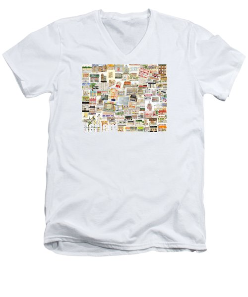 Harlem Collage Of Old And New Men's V-Neck T-Shirt