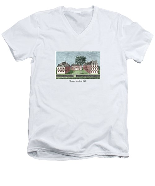 Harvard College - 1720 Men's V-Neck T-Shirt