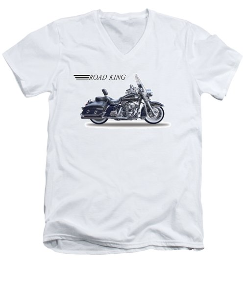 H D Road King Men's V-Neck T-Shirt by Daniel Hagerman