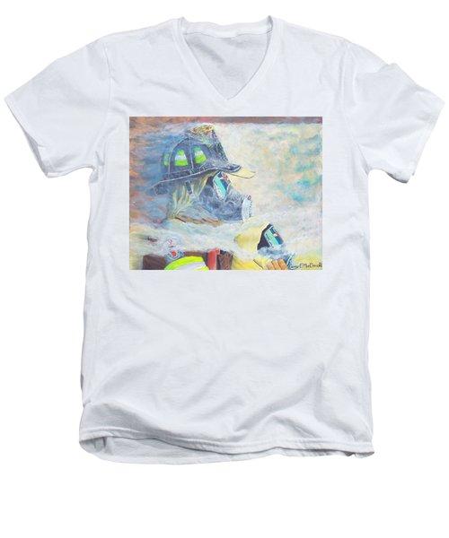 He Is At The Door Men's V-Neck T-Shirt