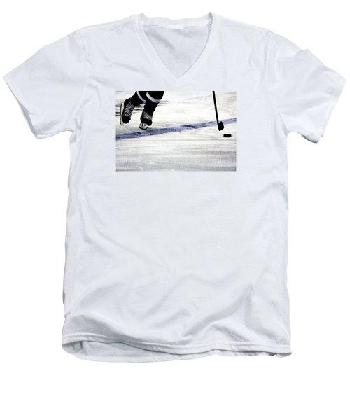 He Skates Men's V-Neck T-Shirt by Karol Livote