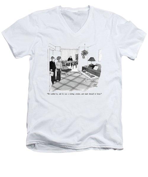 He Walked Men's V-Neck T-Shirt