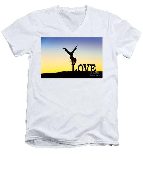 Head Over Heels In Love Men's V-Neck T-Shirt