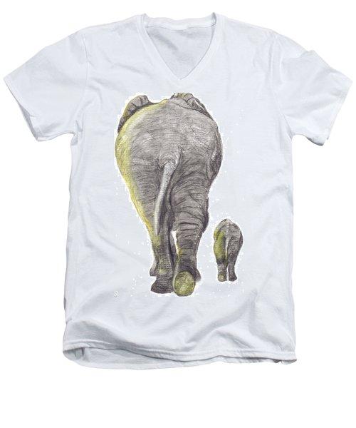 Heading Home Men's V-Neck T-Shirt by Catherine Swerediuk