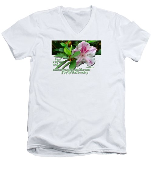 Men's V-Neck T-Shirt featuring the photograph Hear And Receive by Larry Bishop
