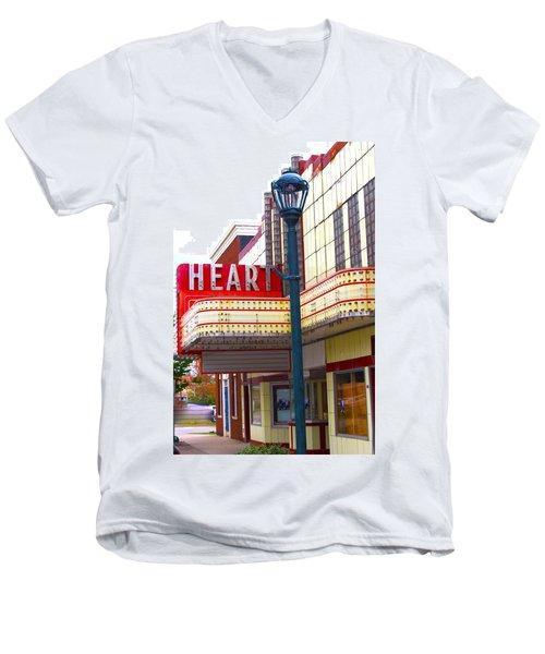 Heart Theatre Effingham Illinois  Men's V-Neck T-Shirt