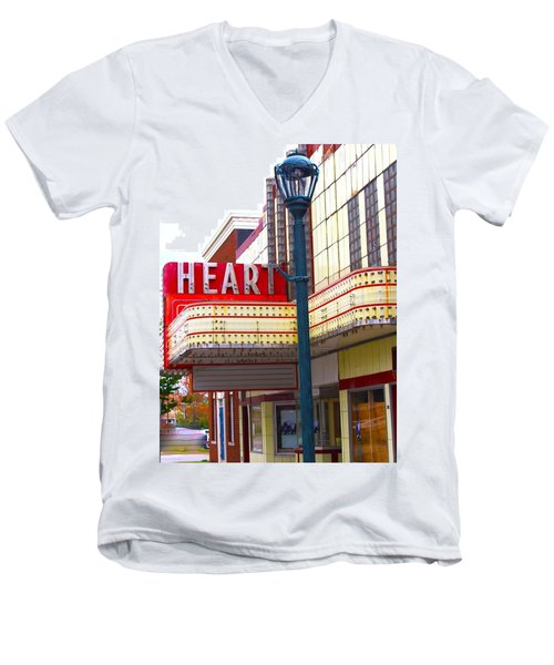 Heart Theatre Effingham Illinois  Men's V-Neck T-Shirt
