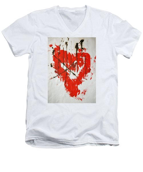 Heart Flash Men's V-Neck T-Shirt