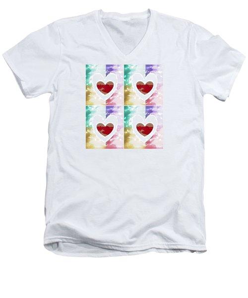 Heartful Men's V-Neck T-Shirt