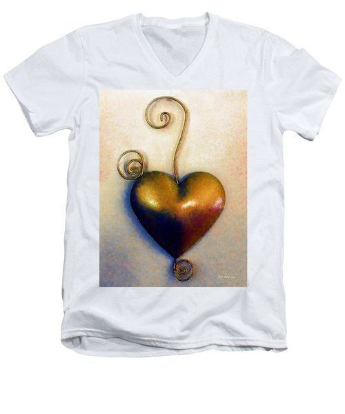 Heartswirls Men's V-Neck T-Shirt by RC deWinter