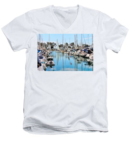 Heat Relief  Men's V-Neck T-Shirt by Tammy Espino