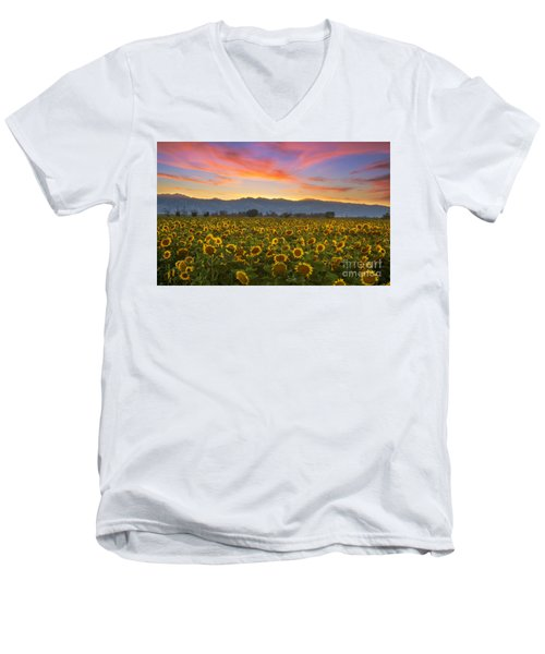 Men's V-Neck T-Shirt featuring the photograph Heaven by Rima Biswas