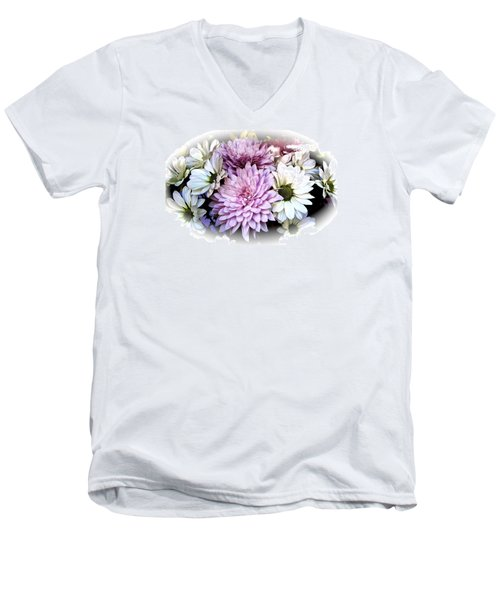 Heavenly Hosts Men's V-Neck T-Shirt by Ira Shander
