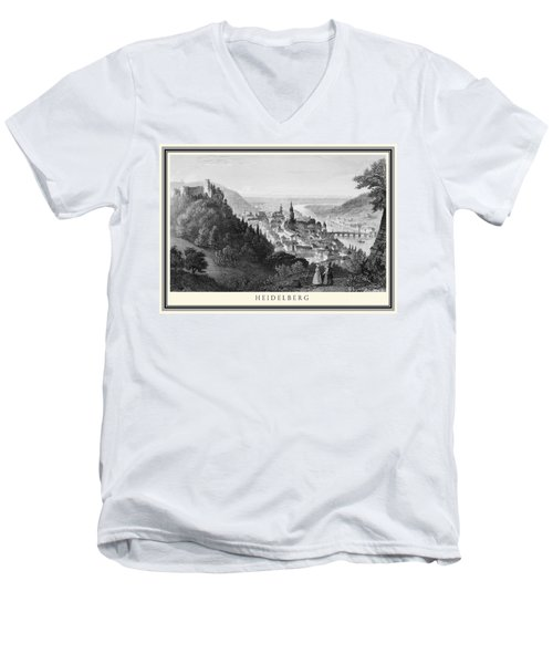 Heidelberg Etching Men's V-Neck T-Shirt