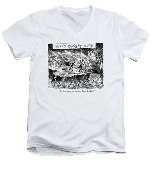 Hell's Comedy Club So How Many Men's V-Neck T-Shirt