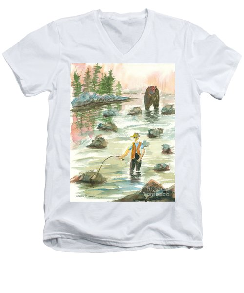 Help Is On The Way Men's V-Neck T-Shirt