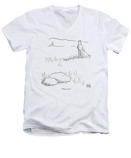 Here I Am Men's V-Neck T-Shirt