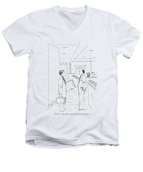 Here It Is - The Plain Men's V-Neck T-Shirt