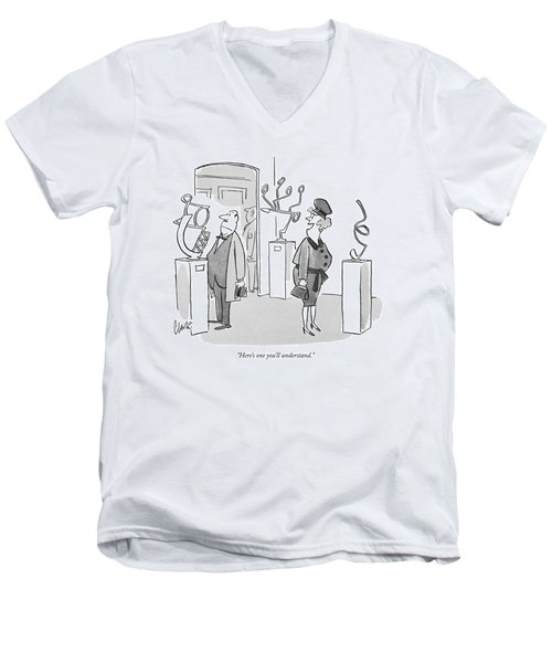 Here's One You'll Understand Men's V-Neck T-Shirt