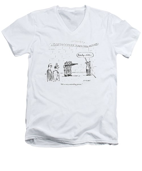 He's A Very Controlling Person Men's V-Neck T-Shirt