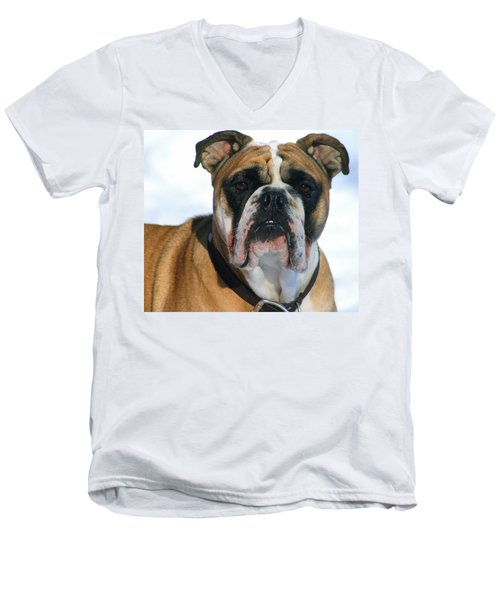 Men's V-Neck T-Shirt featuring the photograph Hey Good Looking by Kay Novy