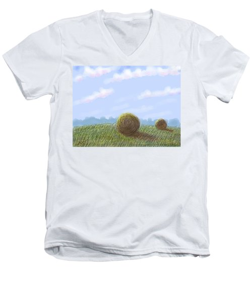 Hey I See Hay Men's V-Neck T-Shirt by Stacy C Bottoms